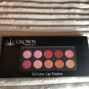 10 Color Lip Palette